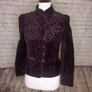 LOFT military style plum jacket, size 4P